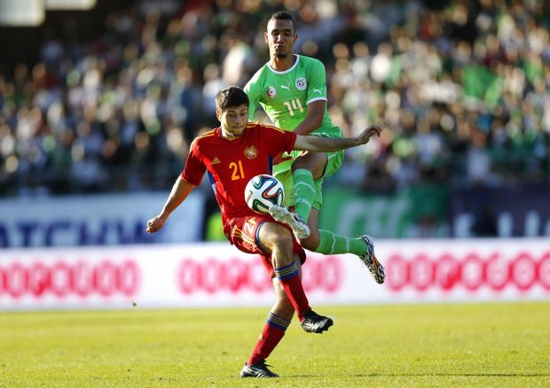 Haringey Independent: Nabil Bentaleb in action for Algeria against Armenia. Picture: Action Images