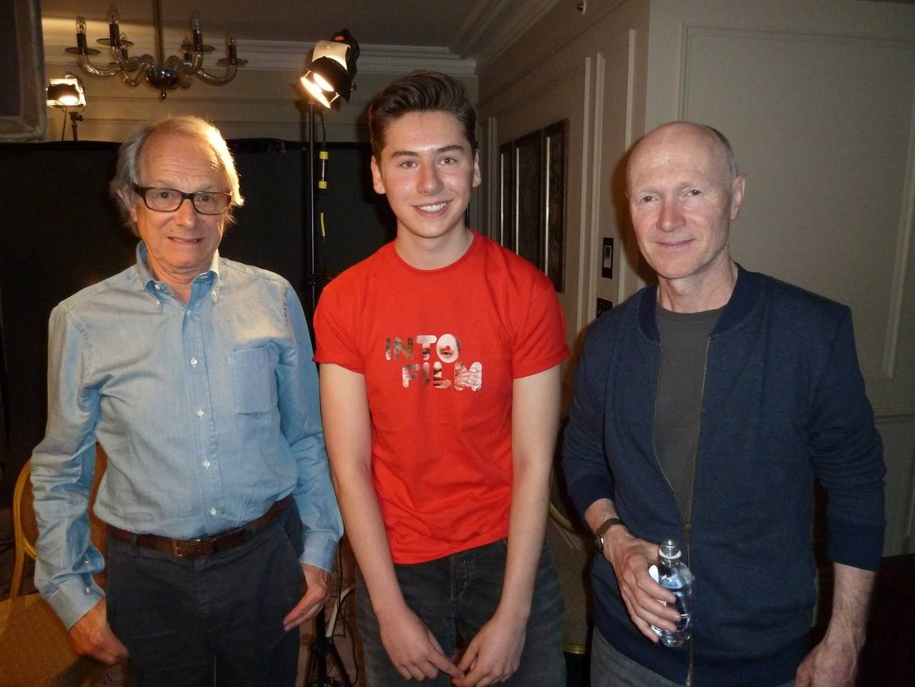 Ken Loach with Harry Goodwin and screenwriter Paul Laverty