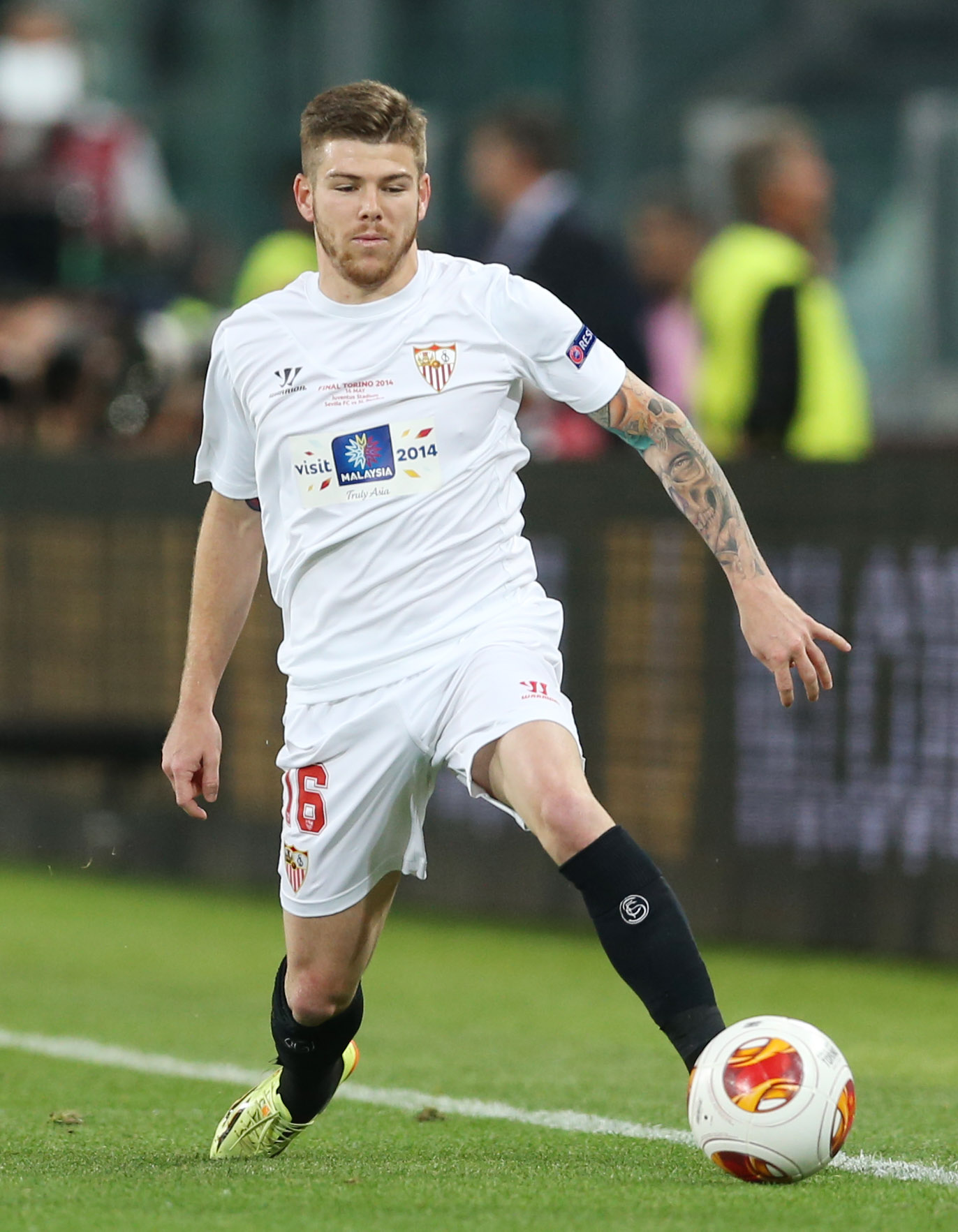 Alberto Moreno in action for Sevilla last term. Picture: Action Images
