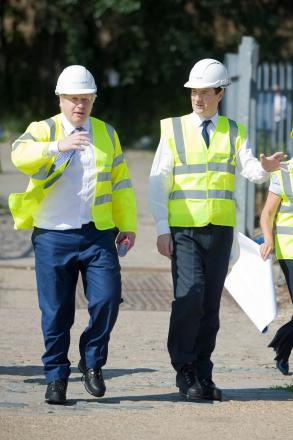 Boris Johnson and George Osborne visit a potential Housing Zone