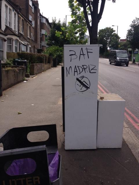 Anti-fascist graffiti appears in Seven Sisters