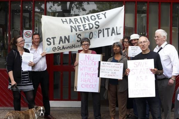 Protesters oppose the sale of mental health hospital land