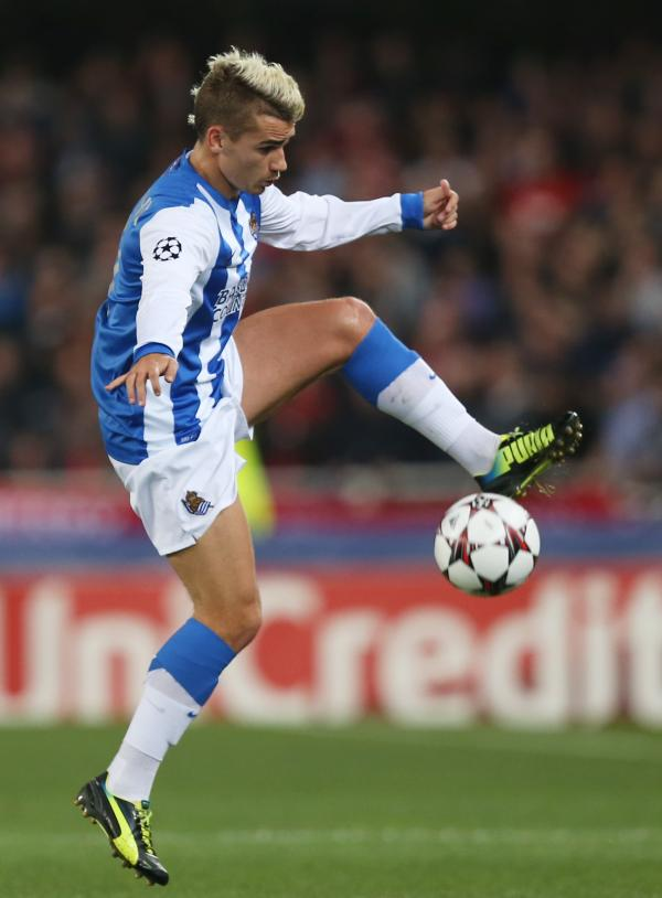 Antoine Griezmann brings the ball under control for Sociedad last term. Picture: Action Images