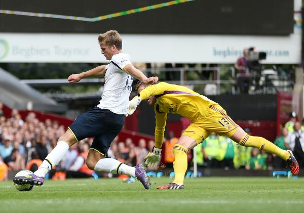 Eric Dier scoring Tottenham's winner. Picture: Action Images