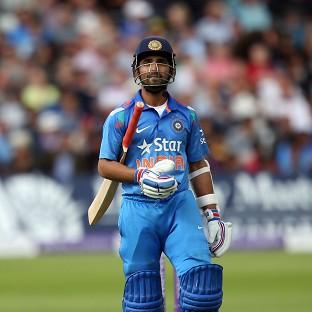 India's Ajinkya Rahane was dismissed for 45, but his innings has helped bu