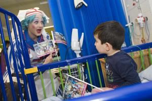 Sleeping Beauty characters visit children's ward