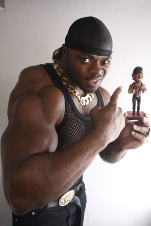 Tony Iron, with his 24 inch biceps, is in the running for Mr T